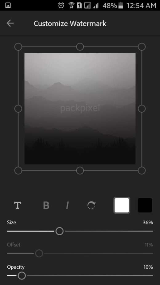 Find a Place to Setup your Watermark