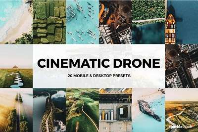 20 Cinematic Drone Lightroom Presets